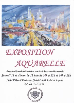 Expo Aquarelle 11 12 Juin 2016
