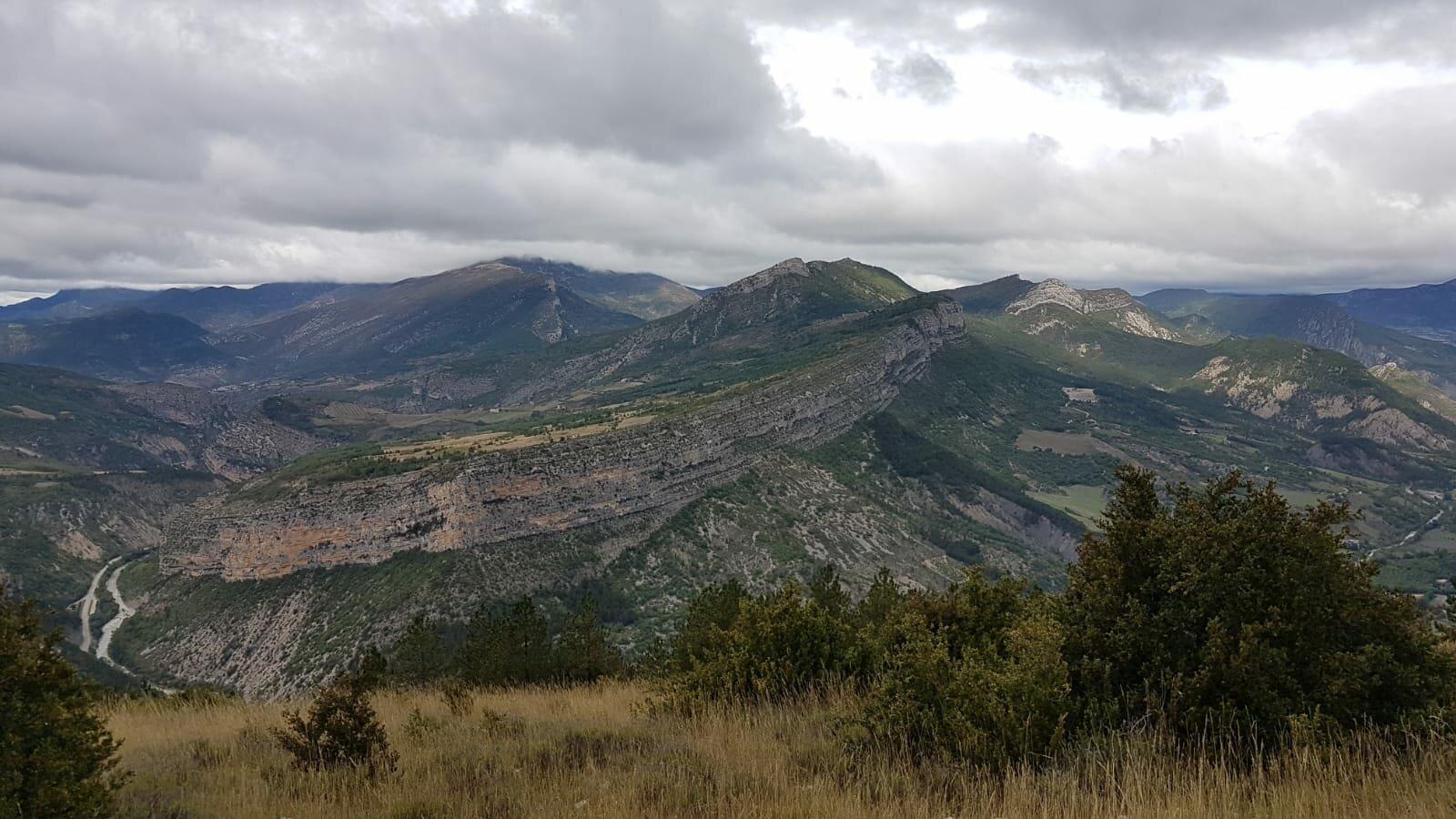 Plateau Saint-Laurent, col de Saint-May, vallée de l'Eygues
