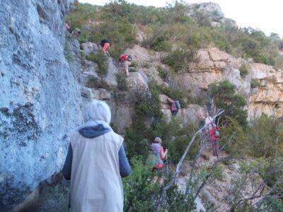 Attention aux chutes de pierre