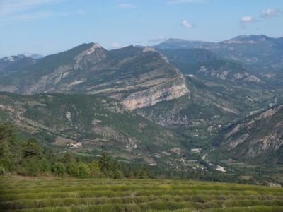 Le pays de Rémuzat vu du col de Soubeyrand